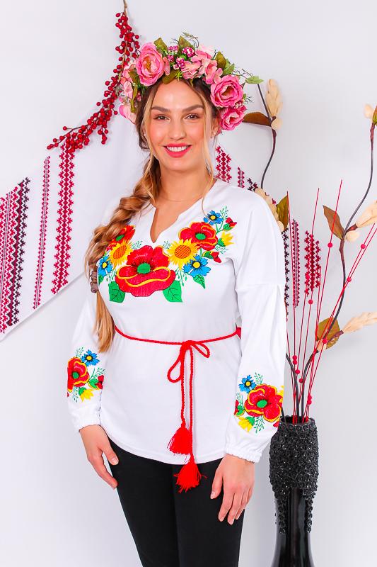 Вышиванка женская с длинным рукавом. 8030-038-22