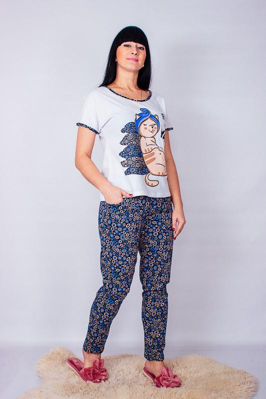 Пижама женская (футболка+брюки) 8071-002-33