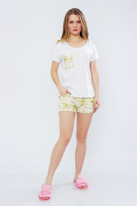 Комплект женский (футболка+шорты) 8072-002