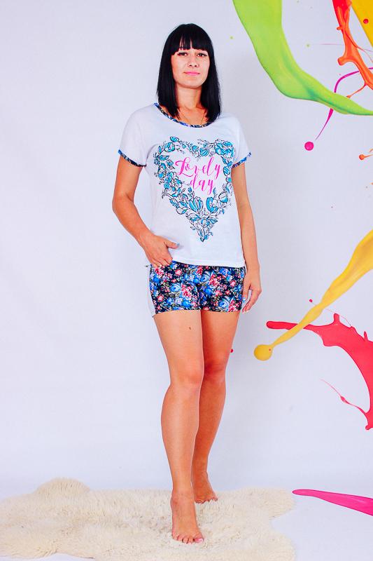 Пижама женская (футболка+шорты) 8072-002-33