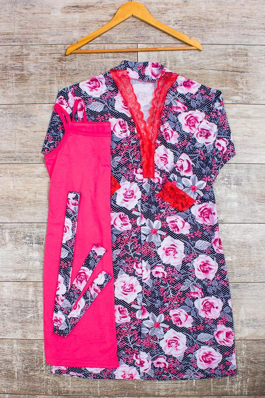 Комплект женский (халат+сорочка) 8075-005
