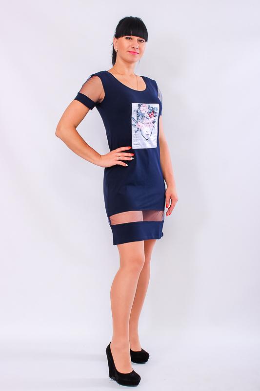 Платье женское с фатиновыми вставками 807636