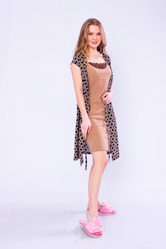 Комплект женский (халат+сорочка) 8077-002