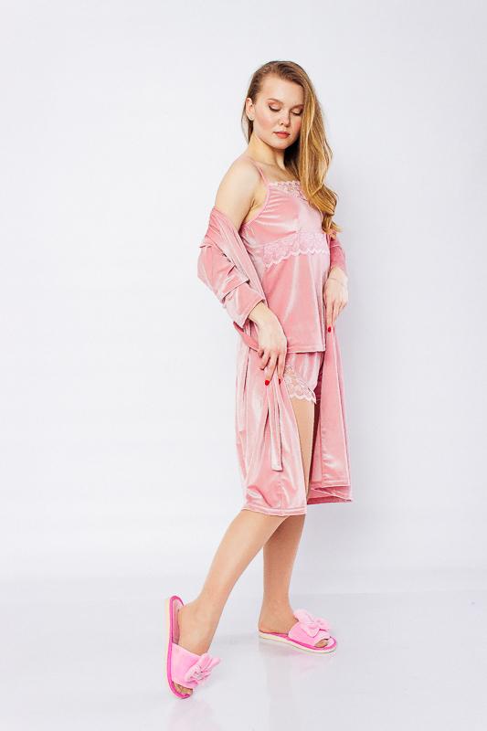 Комплект женский (халат+топ+шорты) 8102-082