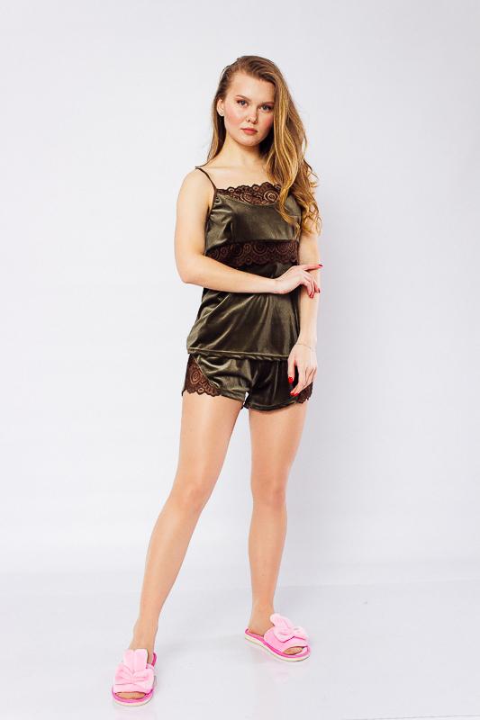 Комплект женский (топ+шорты) 8145-082