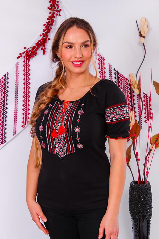 Вышиванка женская с коротким рукавом. 8604-015-22