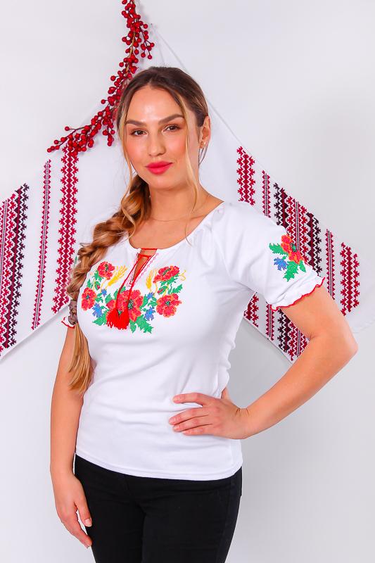 Вышиванка женская с коротким рукавом. 8604-038-22