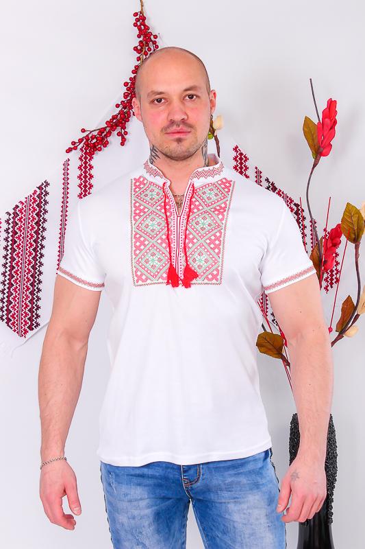 Вышиванка мужская с коротким рукавом 8606-038-22