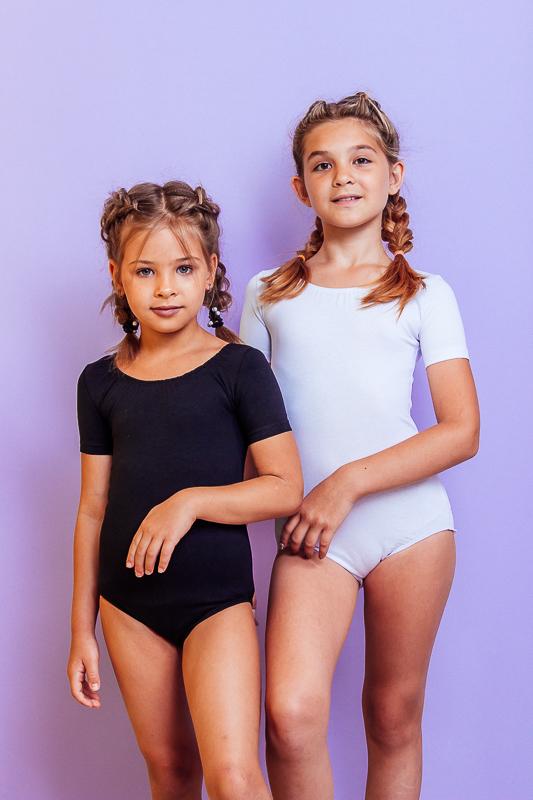Спортивный купальник для девочки с коротким рукавом 9218-036-1