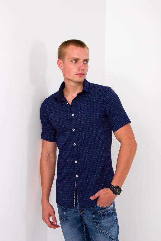 Рубашка мужская с коротким рукавом 9421
