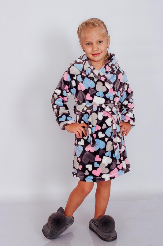 Халат детский с капюшоном 9734-035