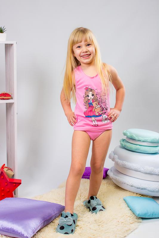 Майка и трусы для девочек с фигурной резиной 9799-008-33