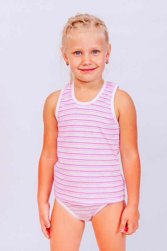 Майка и трусы для девочек с фигурной резиной 9799-009