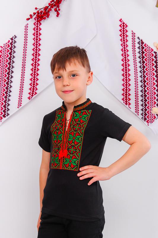 Вышиванка для мальчика с кор. рукавом 9942-015-22
